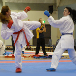Girls Karate Kumite